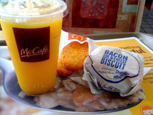 Mcdonalds Breakfast  Bacon Egg and Cheese Biscuit